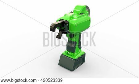 Electric Reinforcing Steel Wire Tier Tool - Isolated Cgi Industrial 3d Illustration