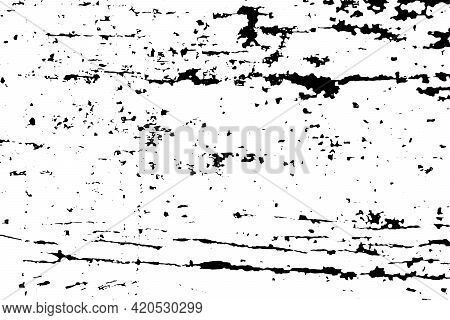 Grunge Black And White Texture Background (vector). Use For Decoration, Aging Or Vintagelayer