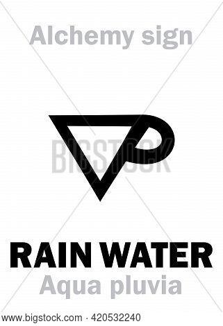 Alchemy Alphabet: Rain Water (aqua Pluvia), Rainwater, Also Syn.eq.: Distilled Water (aqua Distillat