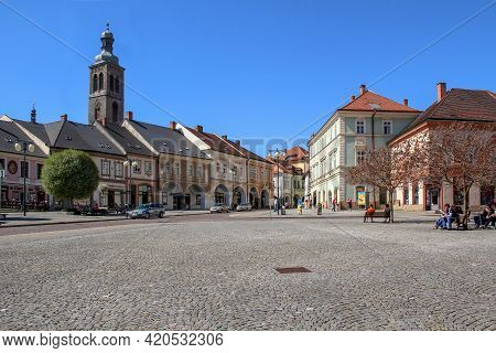 Kutna Hora, Czech - April 28, 2012: Kutna Hora, Czech - April 28, 2012: This Is Palackeho Square In