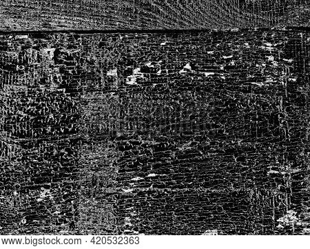 Grunge Black And White Vector Texture. Grunge Texture Vector Easy To Use Overlay Illustration. Black