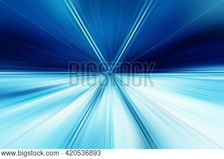 Abstract Radial Blur Surface In Dark Blues And Light Blues Tones. Abstract Blue Background With Radi