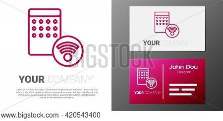 Logotype Line Air Humidifier Icon Isolated On White Background. Portable Electric Home Appliance, Ho