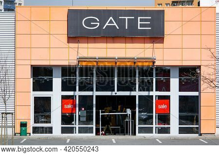 Ostrava, Czech Republic - April 28, 2021: The Storefront Of The Gate Outlet Which Sells Modern Fashi