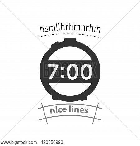 Electronic Alarm Clock Simple Vector Icon. Alarm Clock Icon