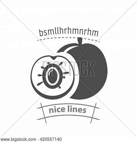 Peach Simple Vector Icon. Peach Isolated Icon