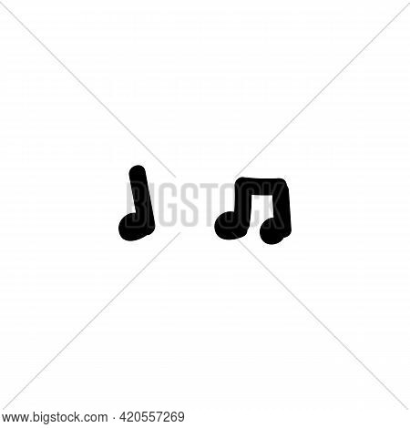 Hand Drawn Music Note Vector Eps 10 Illustration. Concept Of Musical Composition For Song Chord. Sim