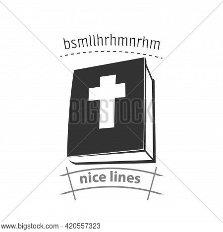 Holy Bible Icon. Bible Book Simple Vector Icon. Bible Icon