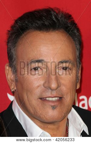 LOS ANGELES - FEB 8:  Bruce Springsteen arrives at the 2013 MusiCares Person Of The Year Gala Honoring Bruce Springsteen  at the Los Angeles Convention Center on February 8, 2013 in Los Angeles, CA