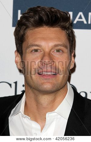 LOS ANGELES - FEB 9:  Ryan Seacrest arrives at the Clive Davis 2013 Pre-GRAMMY Gala at the Beverly Hilton Hotel on February 9, 2013 in Beverly Hills, CA