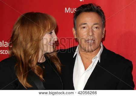 LOS ANGELES - FEB 8:  Patti Scialfa, Bruce Springsteen arrives at the 2013 MusiCares Person Of The Year Gala  at the Los Angeles Convention Center on February 8, 2013 in Los Angeles, CA
