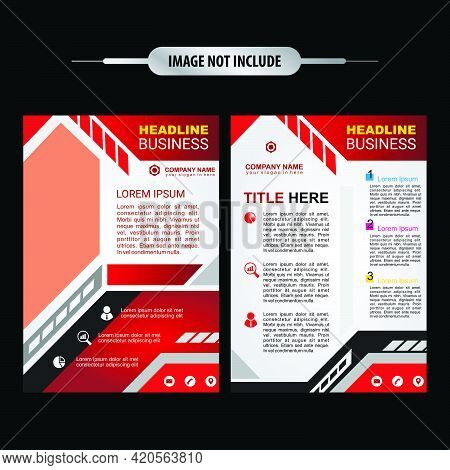 Real Estate Flyer Brochure Or Flyer Design. House Repair Cover A4 Template For A Construction Tools