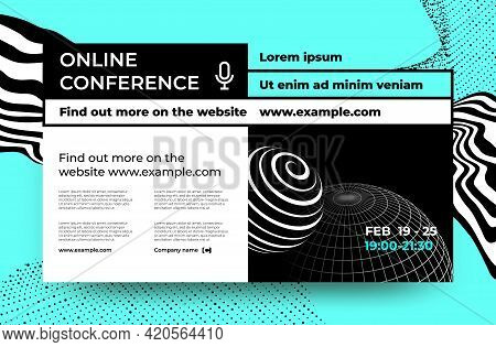 Scientific Conference. Webinar And Business Seminar Invitation Poster Template. Online Training. Ann