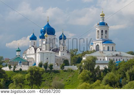 View Of The Temples Of The Ancient Holy Bogolyubsky Monastery On A August Day. Bogolyubovo, Vladimir