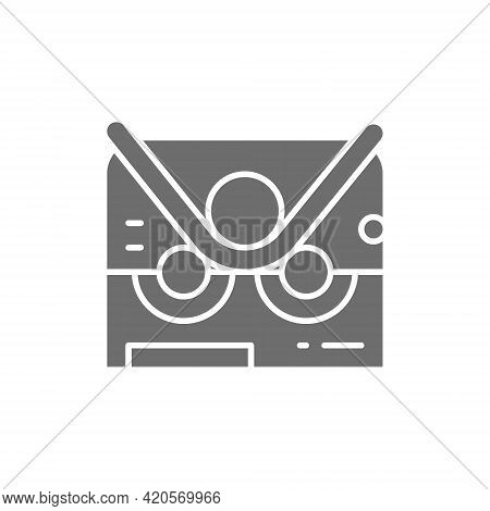 Pipe Bending Machine, Bend Machine Gray Icon.