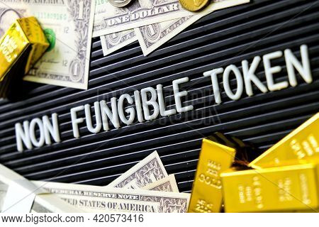 Concept Image Of Nft Nonfungible Tokens Background