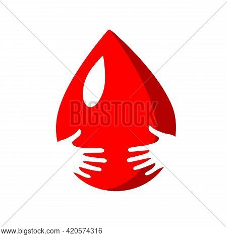 Blood Donation Design. Creative Donor Poster. Blood Donor Banner. Red Drop. Donation Volunteer. Bloo