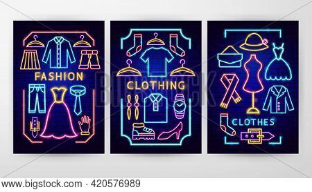 Clothes Fashion Flyer Concepts. Vector Illustration Of Clothing Promotion.