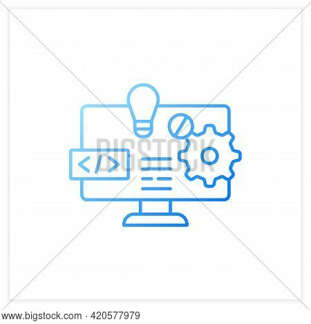 Software Platform Gradient Icon. Programming Environment. Platform For Creating New Operating System