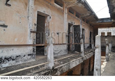 Abandoned Prison In The Former Ussher Fort In Accra, Ghana.