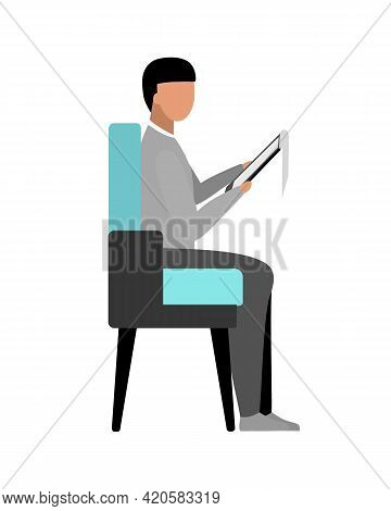 Employer Flat Color Vector Faceless Character. Human Resources Specialist. Performing Administrative