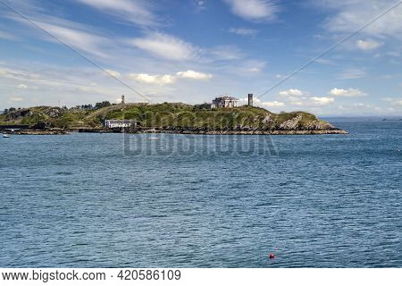 Image Of Two Signal Towers Located On Rock Island In Crookhaven Harbour.county Cork, Ireland.