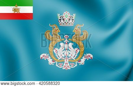 3d Imperial Standard Of The Shahbanou Of Iran. 3d Illustration.