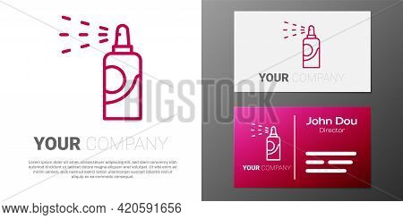 Logotype Line Spray Can For Hairspray, Deodorant, Antiperspirant Icon Isolated On White Background.