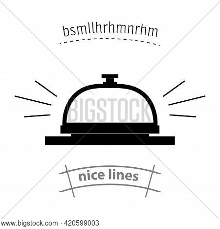 Hotel Call Icon. Reception Bell Simple Vector Icon. Hostel Call Isolated Icon