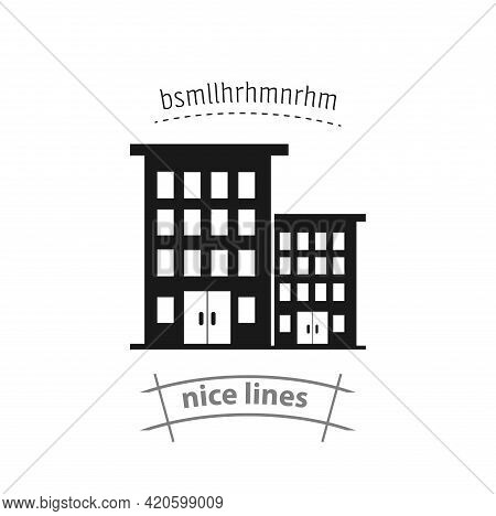 Hotel Simple Vector Icon. Hotel Isolated Icon