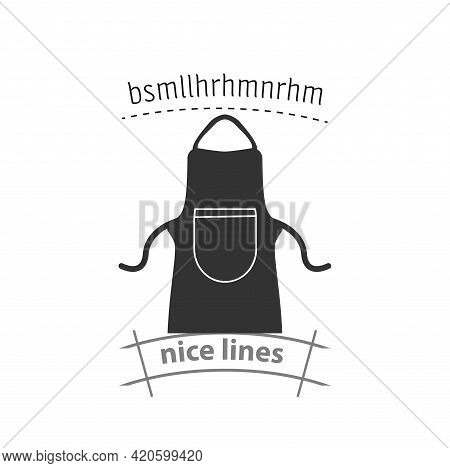 Apron Protective Garment Simple Vector Icon. Kitchen Apron Isolated Icon