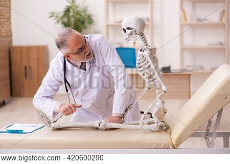 Dead patient visiting old male doctor