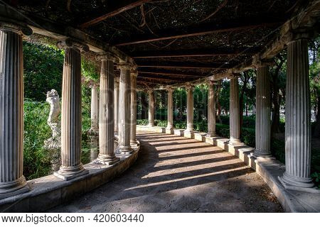 Jardines Del Real, Walk In-between Trees - Viveros Valencia, Near Old Dry Riverbed Of The River Turi