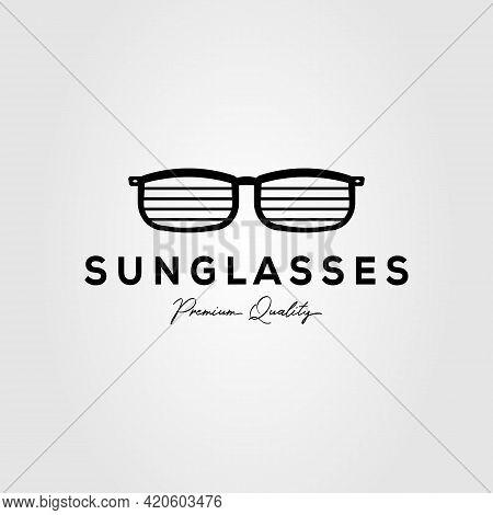 Sunglasses Company Minimalist Isolated Logo Template Vector Illustration Design. Simple Eyeglasses,