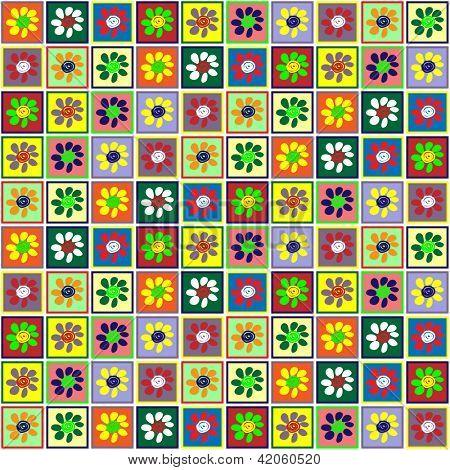 art vintage geometric pattern, green background