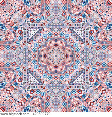 Abstract Seamless Pattern With Geometric Elements Structure.