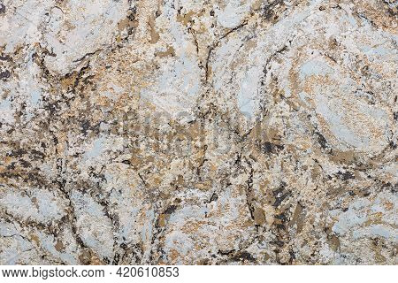Beige, Brown, Blue, Gold, In An Avant-garde Abstract Color Pattern With Black Veins. A High Resoluti