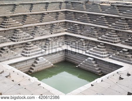 Picture Of An Ancient Step Well With Amazing Architecture From Ancient Times Of The Vijayanagara Emp