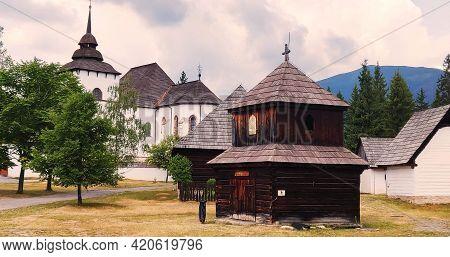 Museum Of Liptov Village In Pribylina, Slovakia. Travel Destination