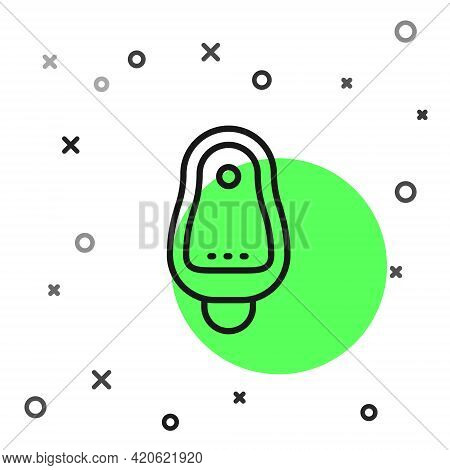 Black Line Toilet Urinal Or Pissoir Icon Isolated On White Background. Urinal In Male Toilet. Washro