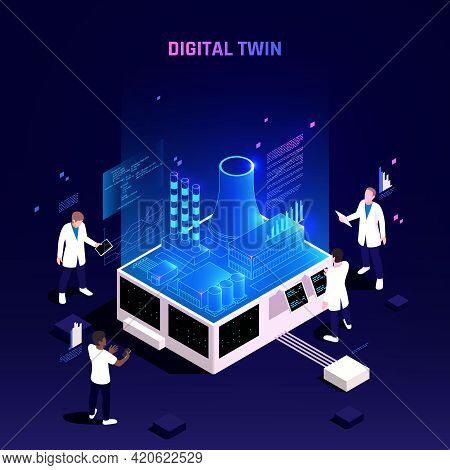 Digital Twin Technology In Manufacturing Industry Facility Maintenance Optimization Analytics On Vir