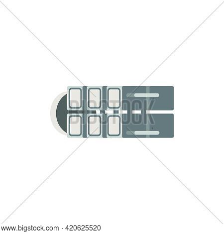 Cartoon Element Of Space Station Constructor Vector Illustration
