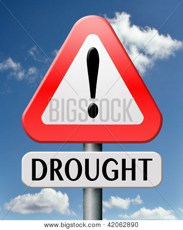 drought caused by water shortage leads to crop failure and food scarecy and desertation