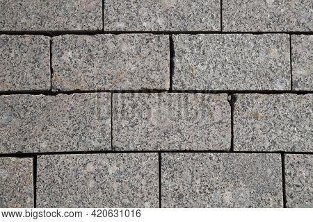Granite Paving Stones.background.decorative Road Surface.granite, Stone, Surface