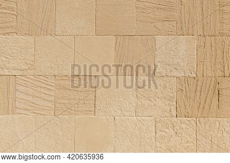 Brick Wall, Natural Stone. Background And Texture.
