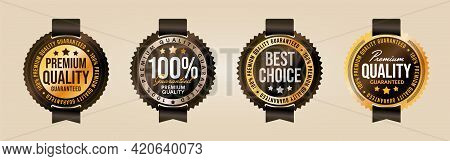 Premium Quality And Best Choice Product Label, Stamp Or Seal. Set Realistic Badge With Luxury Design