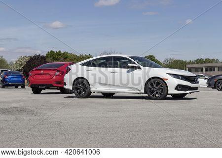 Kokomo - Circa May 2021: Honda Civic Display. The Honda Civic Is One Of The Top 25 Cars Sold In The