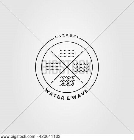 Water And Wave Logo. Lake, River, Ocean Logo Template Vector Illustration Design