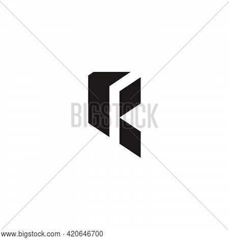 Abstract Letter Rk Simple Polygonal Logo Vector
