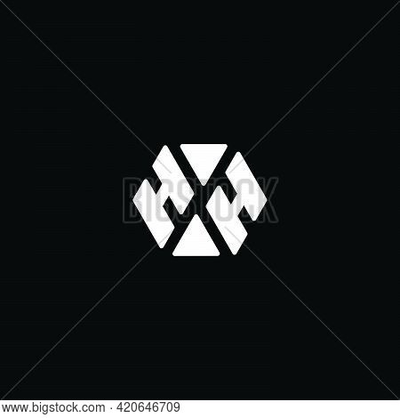 Letter Hh Simple Triangles Geometric Simple Logo Vector